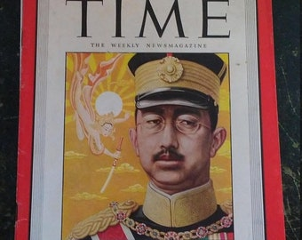 Spring Sale Vintage WW2 1945 Time Magazine Emperor Hirohito