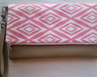 Pink Clutch/ Wristlet Purse