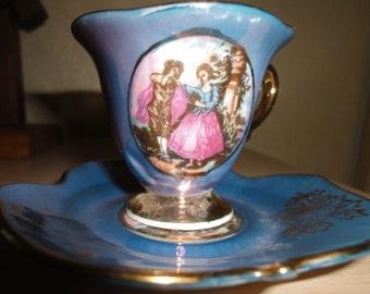 Vintage Purple Royal Crown Tea Cup/ Gold Trim