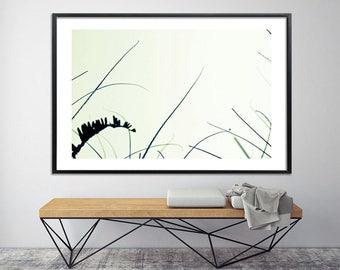 Large botanical art Modern prints Large canvas art print Nature print Black and white Bedroom art by Duealberi