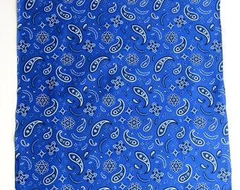 Bandana - blue - paisley pattern - new design!