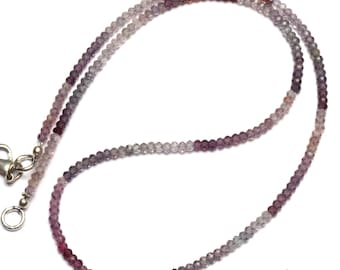 """Natural Gem Multicolor Spinel Faceted 3MM Rondelle Beads 17.5"""" Full Strand Israeli Machine Cut Beads Super Fine Quality Complete Necklace"""