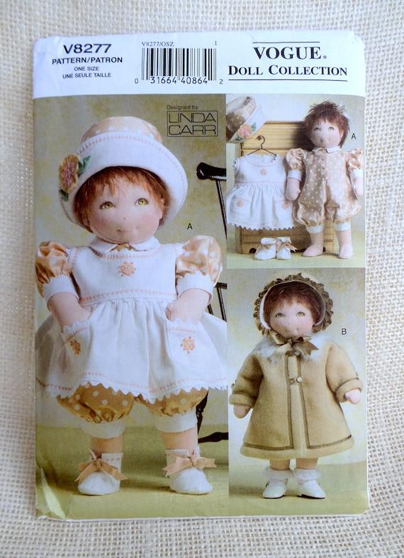 Mode V8277 Puppe Muster nähen Linda Carr Puppe Trägerkleid