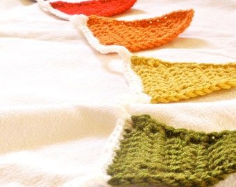 Crochet Pennant Garland or Bunting - You Choose Colors