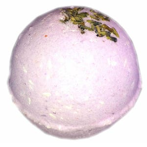 Bath Bomb Lavender Sky Organic Oil – Natural Ingredients - Relaxing Epsom Salt, Himalayan & Dead Sea Salt, Essential Oil, Apricot Kernel Oil