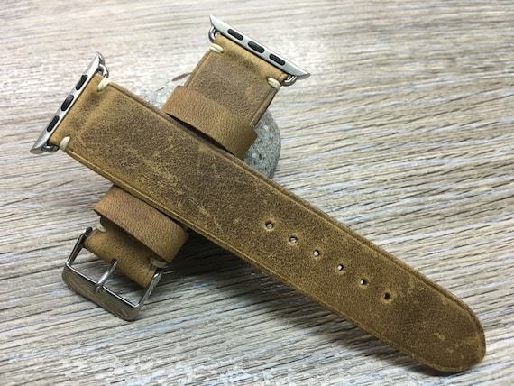 Apple Watch Band 42mm 38mm, Discount, handmade Watch band series 1 and 2, Free Shipping, Gift, Brown Apple Watch Strap, Leather Watch band