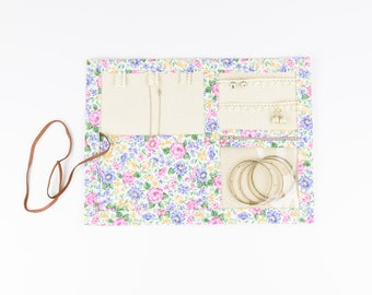 Small or Large Jewelry Case - Springtime Floral