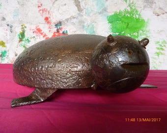 sculpture metal deco turtle
