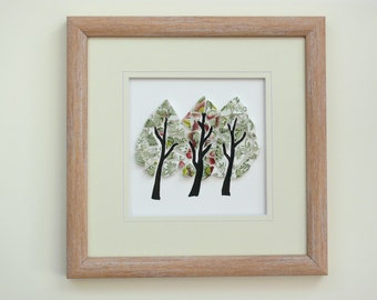 Triple Tree Mosaic Wall Art