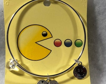 Pac Man Wired Bangle Charm Bracelets Free Shipping