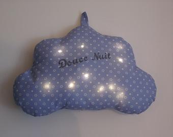 "Night light ""customizable"" light cloud cushion"