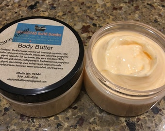 Citrus Energy Essential Oil Body Butter for Kids or Adults