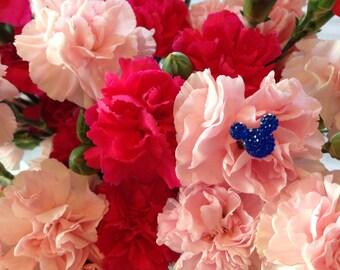 Disney Wedding Corsages-FREE SHIP-6 Hidden Mickeys Bouquets-Boutonnieres-Flower Picks-Centerpiece-Floral Pins