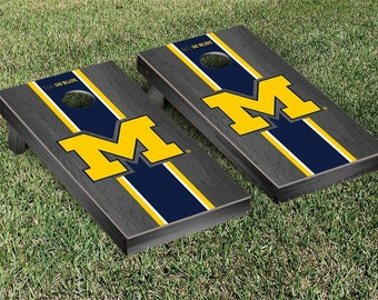 Michigan Wolverines Cornhole Game Set Stripe Designs