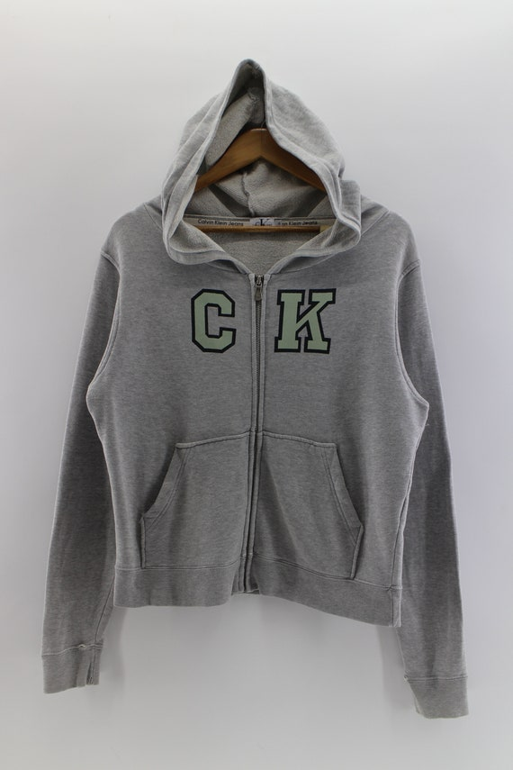 Vintage Calvin Klein Designer Hoodies Sweater fully zipper Streetwear Urban Fashion Sweatshirt Size S RRBpCJm