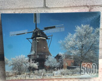 Windmill Jigsaw Puzzle, RoseArt Since 1923 Puzzle, 1996 Roseart  Puzzle