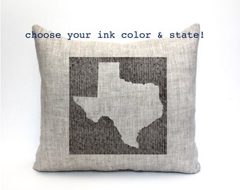 "state pillow, christmas gift, custom pillow, housewarming gift, wedding gift, anniversary gift, gift for her - ""The State"""