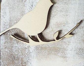 Bird 851 embellishment wooden creations