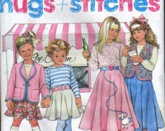 Simplicity Pattern 7401 Child's Skirt, Top, Jacket or Vest UNCUT Size 3-8
