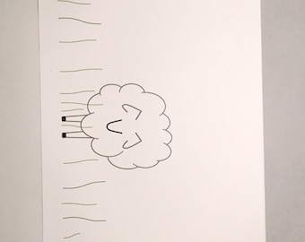 Sheep - Custom Blank Notecards - Set of 8