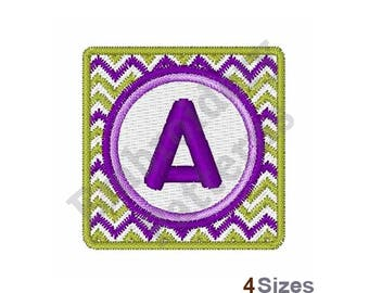 Chevron Uppercase A - Machine Embroidery Design - 4 Sizes, Lettering, Alphabet, Font, A Embroidery, Uppercase Design