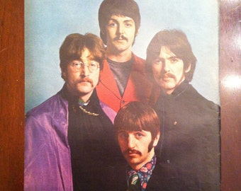 Original 1967 BEATLES full color page from LIFE MAGAZINE - Over 50 years old!
