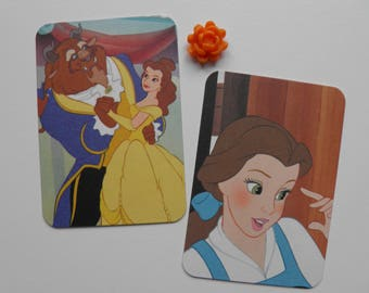 Beauty and the beast Journaling Cards, Sets of 5, Ephemera, Paper embellishments, Handmade, Project Life, Bookmarks, Tags, Free shipping