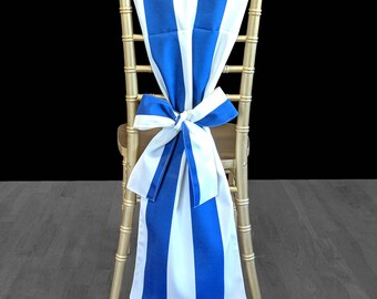 Blue Stripe, Birthday Baby Shower Party Chair Cover