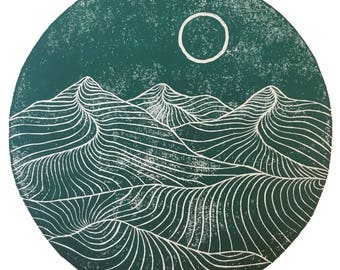 Moonlines - Limited Edition Mountain Print