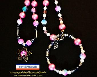 Artjewel Pendant Necklace & FREE Bracelet