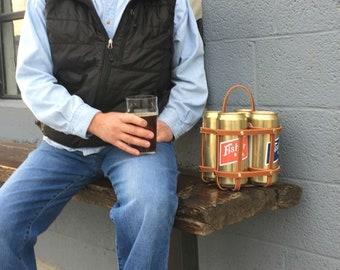 Beer Carrier, Crowler4-Pak, Leather Beer Carrier, Picnic Supplies Drinks
