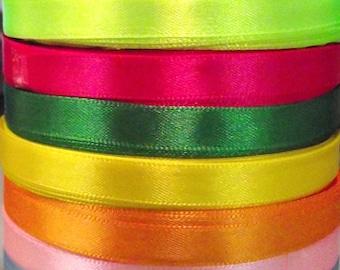 22 m 10 mm 10 colors satin ribbon.