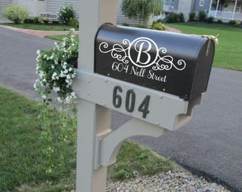SALE!!! Custom Mailbox Address Vinyl Decal Stickers Mail Box Vinyl Numbers Mailbox Curb Appeal Mailbox Decals House Numbers Home Address
