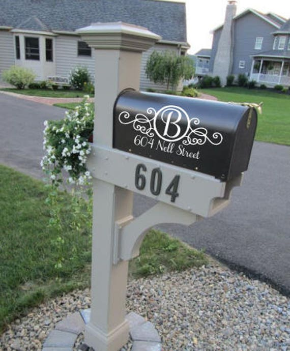 SALE Custom Mailbox Address Vinyl Decal Stickers Mail Box - Custom vinyl decals numbers