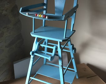 Doll high chair, vintage.