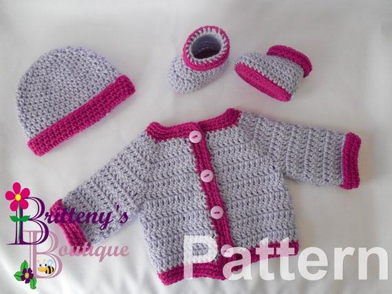 Baby Crochet Pattern Baby Crochet Sweater Pattern Baby Cardigan ...