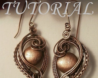 Wire Wrap TUTORIAL, Wire Wrapped Earrings, The Elegant Ear, Wire Jewelry Pattern, Making Wire Jewelry
