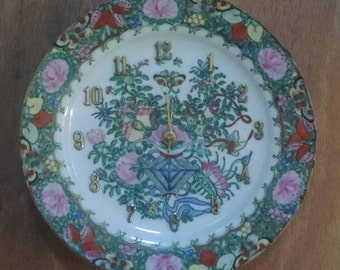 Fancy Frill Floral Clock - Dinner Plate Size !