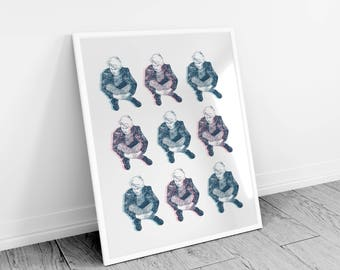 Boy Pink Boy Blue Repeat - Limited Edition Glicee Print - Hannemuhle Pearl 285gsm
