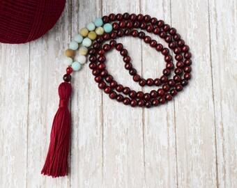 108 Mala Bead, Mala Necklace, Bohemian Jewelry,Teen Gift Tassel Necklace,Tassel Bead Necklace, Bohemian Necklace, Prayer Bead, Boho Necklace