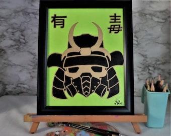 Toxic Samurai with Frame