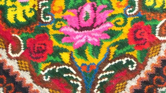 Perzisch Tapijt Goedkoop : Floral kelim teppiche rose teppiche tapis kelim laine