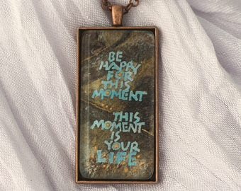 Calligraphic Pendants: Inspirational words you can wear. Limited edition archival print of hand-lettering. No digital fonts here!