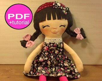 PDF sewing tutorial doll sewing pattern doll pattern making doll soft doll pattern pdf doll pattern cloth doll pattern rag doll making