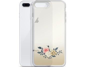 Gold Ombre Floral iPhone Case