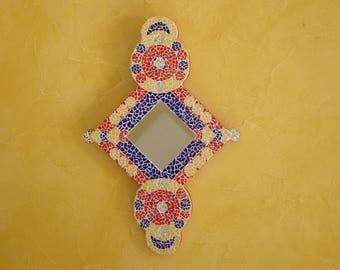East mosaic mirror