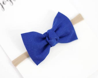 Newborn Baby Bow - Newborn Headband- Baby Bows - Blue Baby Bows - Newborn Bow - Baby Girl Bow - Blue Baby Headband - Blue Bow Baby Bow