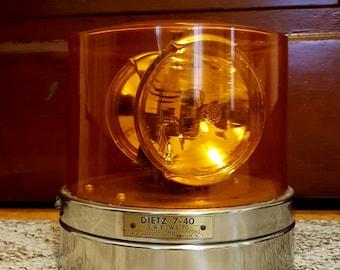 Vintage Dietz 7-40 rotating  amber beacon
