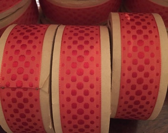 Dotted French embroidered Ribbon, made in France, 1 1/4 inches wide sold as 10 yard roll