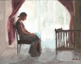 Infertility, Miscarriage, Infant Loss, Grief Painting Print: Empty Crib